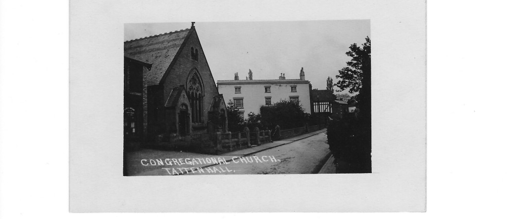 Tattenhall Congregational Chapel and former 'Manse' (now demolished). The Manse was used by the Tattenhall Home Guard during WWII. Members of the Home Guard met at this building on Sunday mornings to Parade. It was also used as a store for Mills Bombs and Thunder Flashes. Jeff Salt who was the Sergeant Major lived at the Shop and Post Office which was next door (currently the Indian Restaurant). At the end of the War and to remove the Mills Bombs, Geoff Salt would light the fuses and throw them against the Chapel Wall.