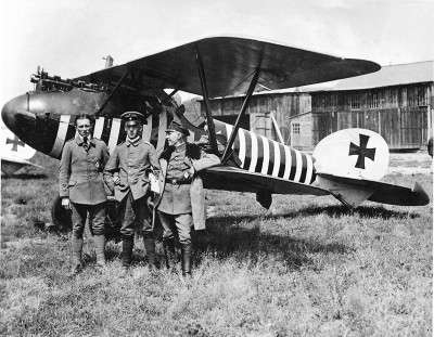 The type of aircraft piloted by Gefreiter Wilhelm Hasenbein which was involved in the melee with Leonard Arthur Tilney