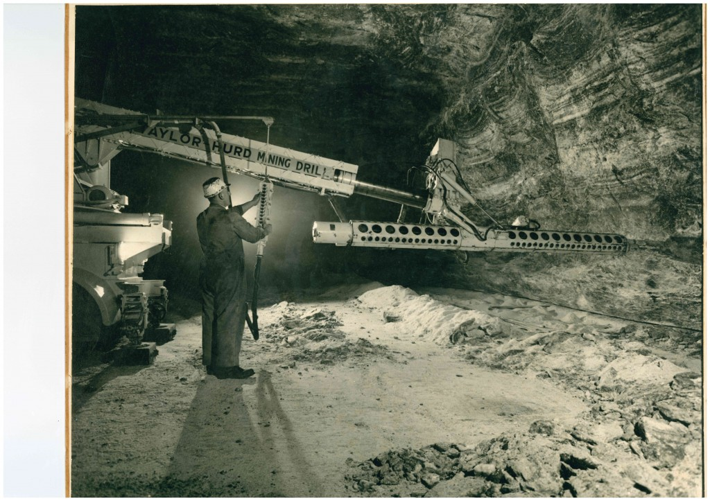 Example of Donald Good's commercial photography as official photographer of ICI Salt Mines, Northwich.