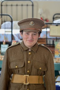 'Alfie' - in role as a Private with the Durham Light Infantry