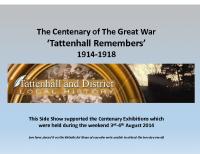 'Tattenhall Remembers' Slide Show