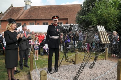 Tattenhall's 'Horse of War', unveiled by Cheshire's Lord-Lieutenant, David Briggs