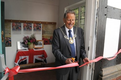 The 'Tattenhall Remembers' Exhibition, declared 'open' by Cllr Herbert Manley, Sheriff of Chester