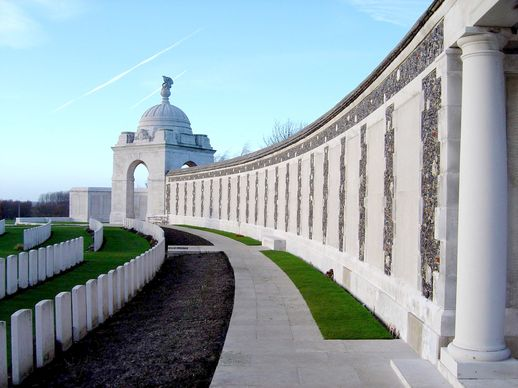 Tyne Cot, the largest Commonwealth War Graves Cemetery on the Western Front. The Cemetery lies NE of Ypres in Flanders.