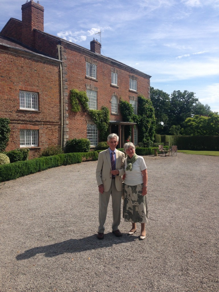 Colin Higgins and Carol Copeland (nee Higgins) on their nostalgic visit to Gatesheath Hall 2014