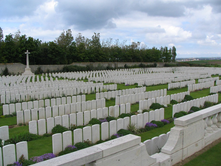 Terlincthun British Cemetery, Wimille, on the northern outskirts of Boulogne